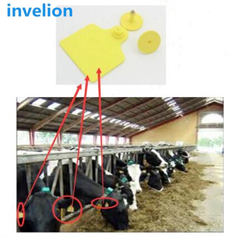 Muestra gratis de 5 uds. De etiqueta de oreja de Animal EPC Gen2 ISO UHF RFID para la gestión de la agricultura en Stock