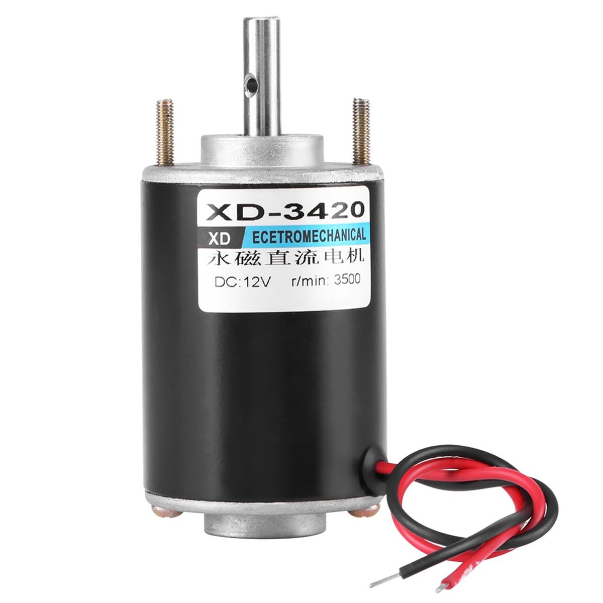 12/24V 30W Motor eléctrico de alta velocidad DC imán permanente DC Motor de corte banco de molienda cepillo DC Motor XD-3420