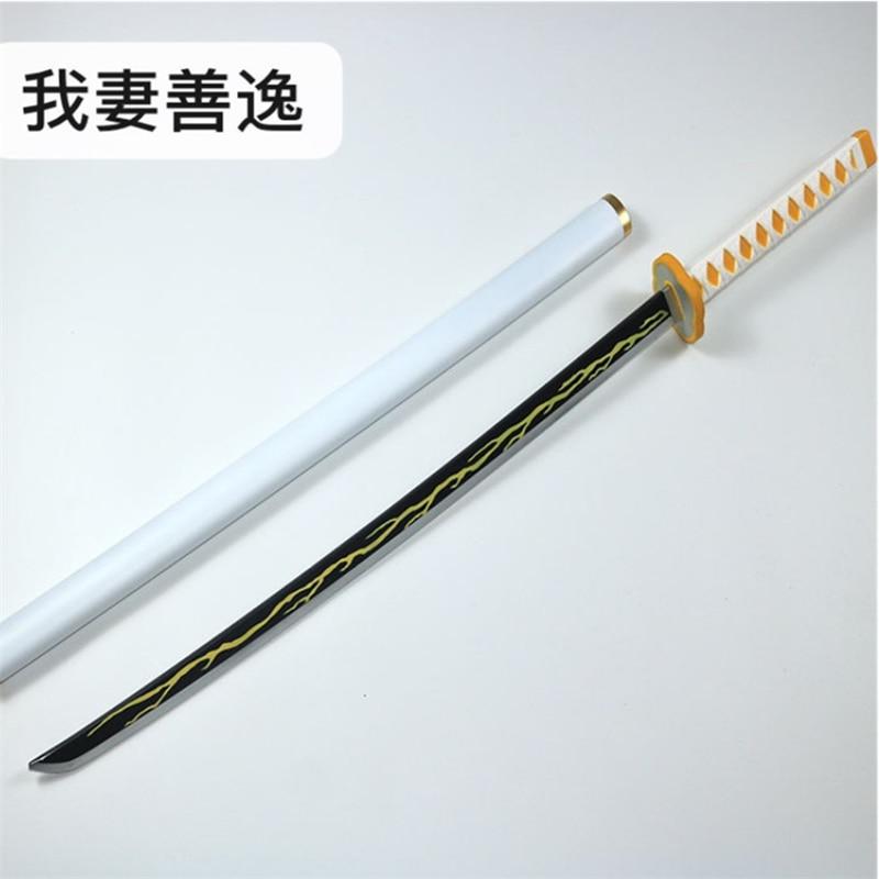 Kimetsu no Yaiba-سيف قاتل الشياطين ، سيف تنكري 1:1 ، سكين نينجا PU 104 سنتيمتر ، ملحق سلاح