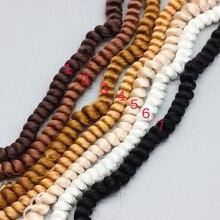 100cm güzel kıvırcık peruk saç beyaz kahverengi siyah doğal renk örgülü peruk BJD 1/3 1/6 1/4 bebekler peruk