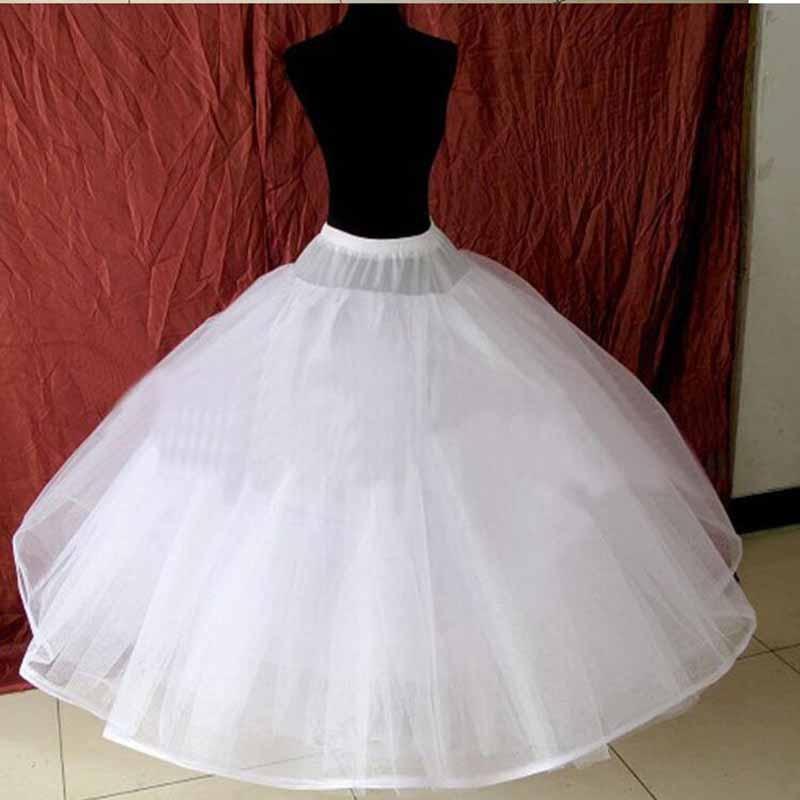 Hoopless 8 Layers Hard Tulle Wedding Petticoats Luxury Princess Quinceanera Dresses Underskirt Long Crinoline Tulle S40