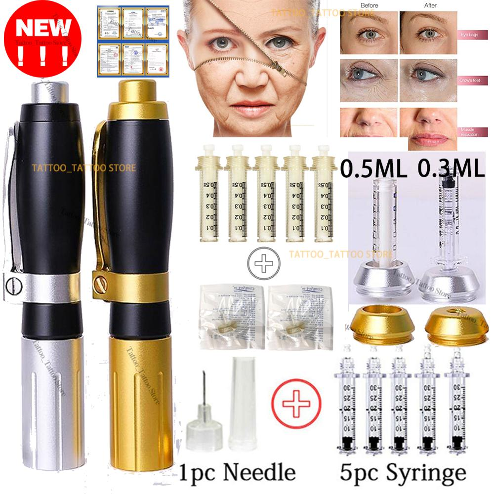 Hyaluron Pen 2 in1 0.3 0.5ML Heads Hyaluronic Acid Pen For Anti Wrinkle Lifting Lip Hyaluron Gun Atomizer Lip Injection Pen Acid