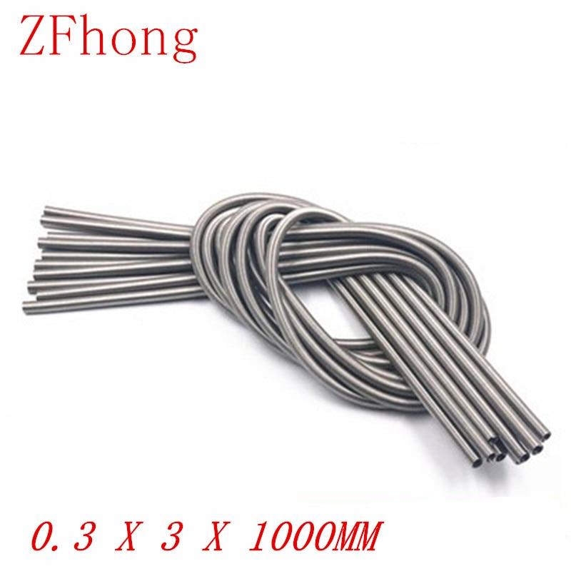1 Pza 0,3x2mm o 3mm x 1000 Acero Inoxidable Super larga tensión resorte extensión cable 0,3mm OD 3mm longitud 1000mm