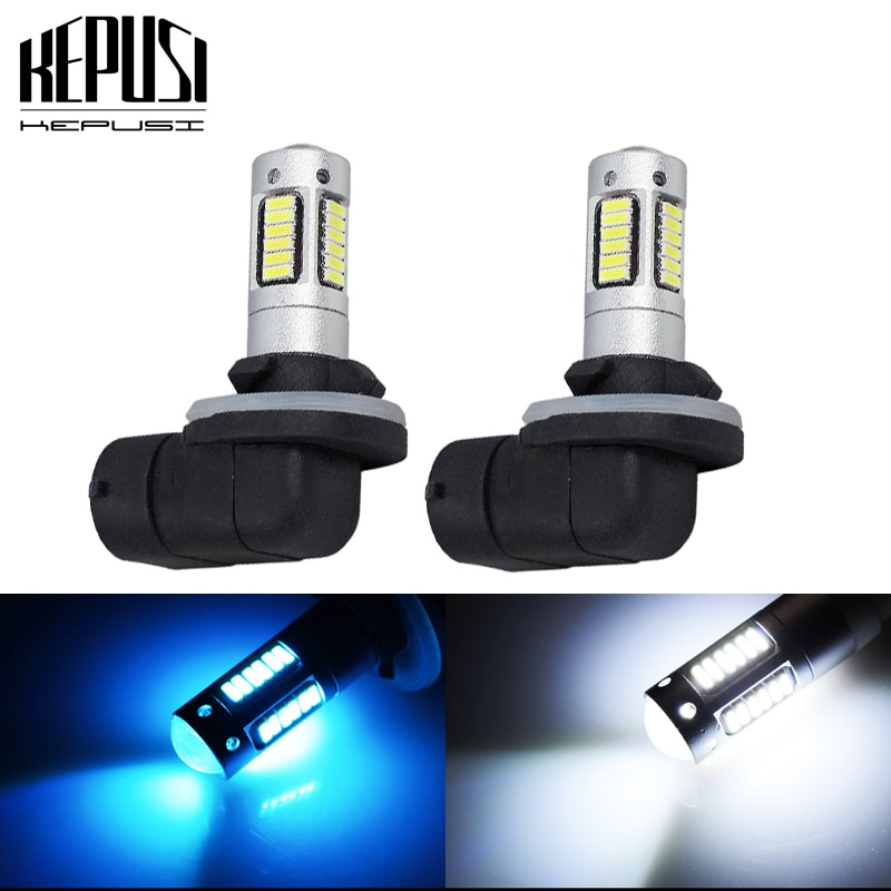 2x 881 Auto LED Fog Lamp High Power Car Bulbs 4014 DRL Daytime Running External Lights Day Driving Vehicle White Ice Blue
