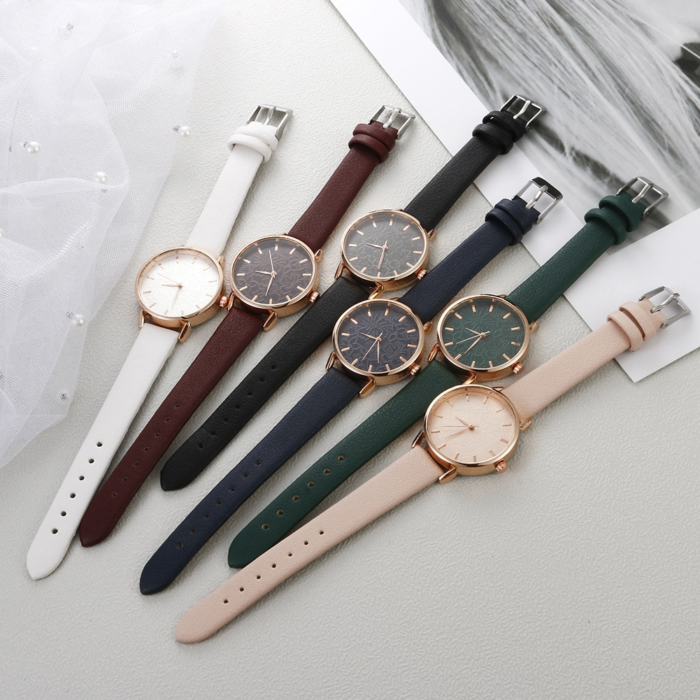 YUNAO Live Hot Selling Fashion Watches High-End Watches Elegant Ladies Casual Creative Embossed Flower Quartz Watches Women enlarge