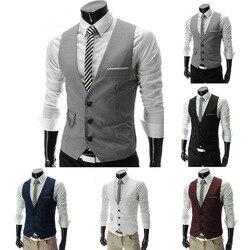 2020 dos homens colete formal vestido terno coletes fino ajuste terno colete masculino festa de casamento colete homme sem mangas jaqueta de negócios