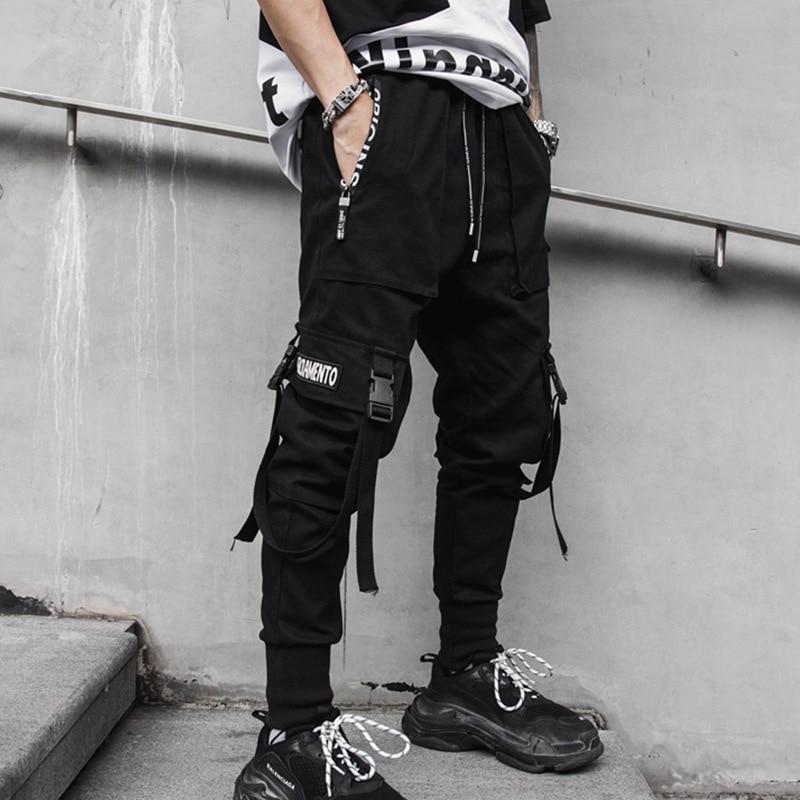 Джоггеры мужские в стиле хип-хоп, штаны-султанки, уличная одежда, тактические брюки-карго с вышивкой надписью, брендовые штаны