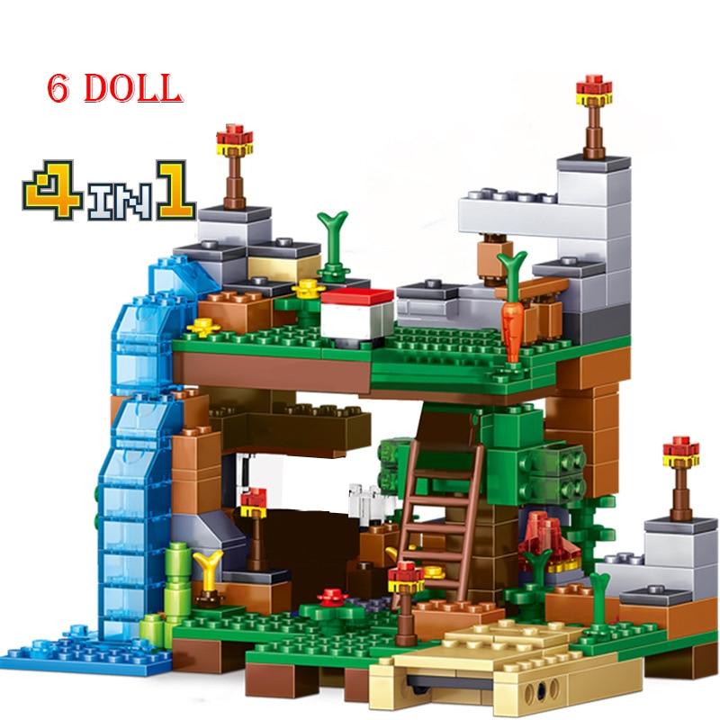 368 Uds. Compatible Lepining MinecraftINGLys My World Dolls Juguetes de bloques de construcción para niños regalo niños niño juguete