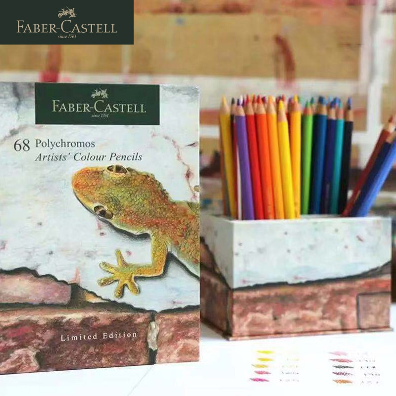 Faber Castell 68-color Oily Colored Pencil Set Professional Hand-painted Art Painting Tool Set Limited Edition Pen Holder Gift