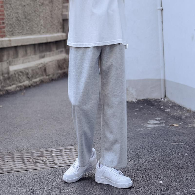 Фото - pants man woman autumn street solid sports straight pant Hong Kong-style loose wild student men oversize casual trousers mark wild street meeting