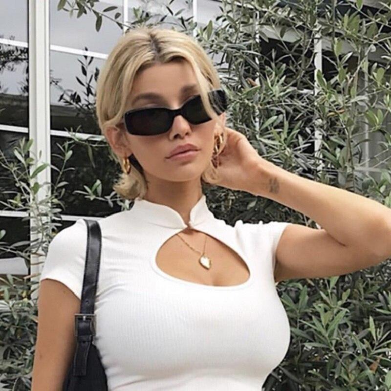 Rectangle Sunglasses Women Vintage Retro Glasses Designer Shades For Men 2021 Fashion Sun Glasses Lu