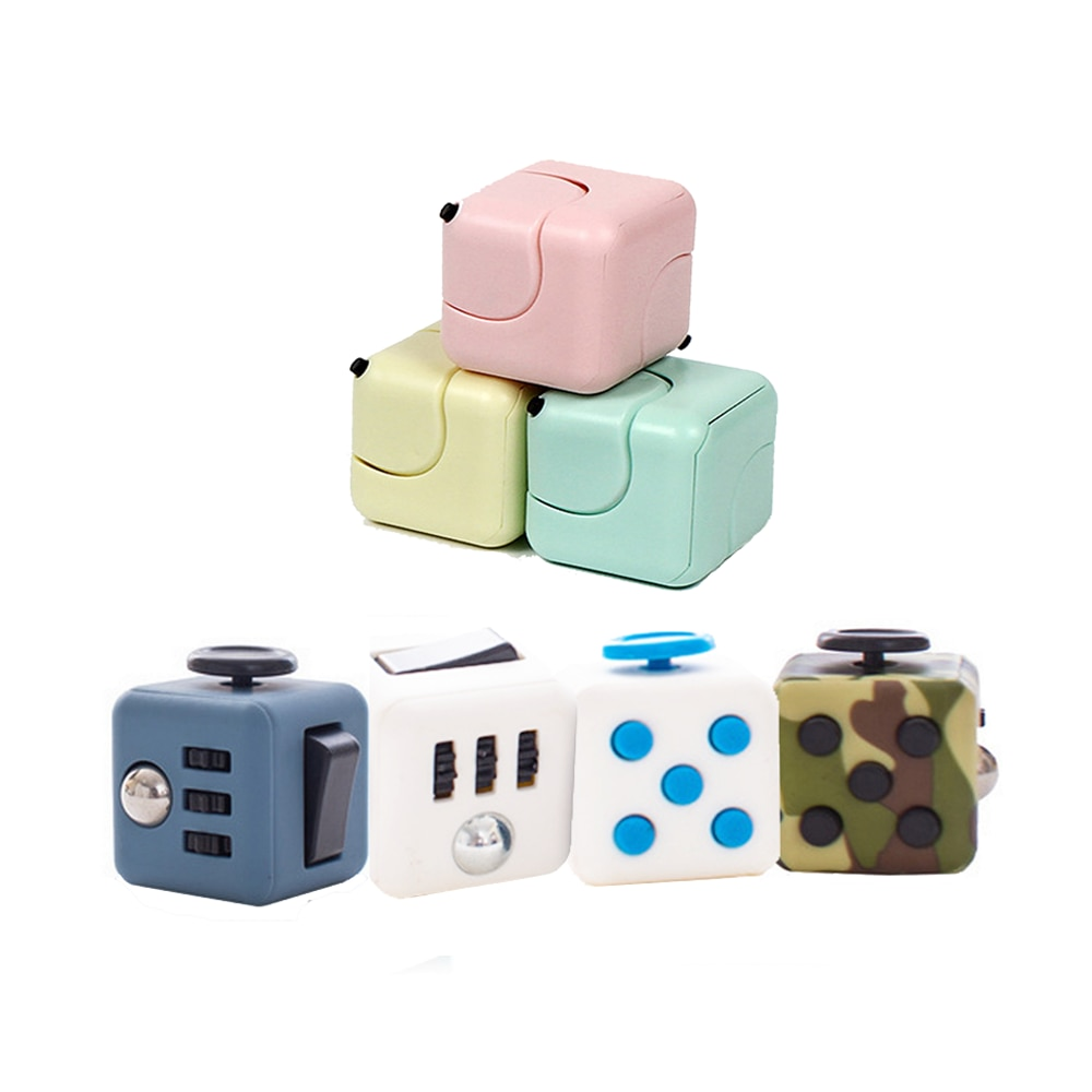 Squeeze Stress Reliefer Gifts Dice Cube AntiStress Anxiety Toy Fun Stress Relieves for Kids Adult Ch