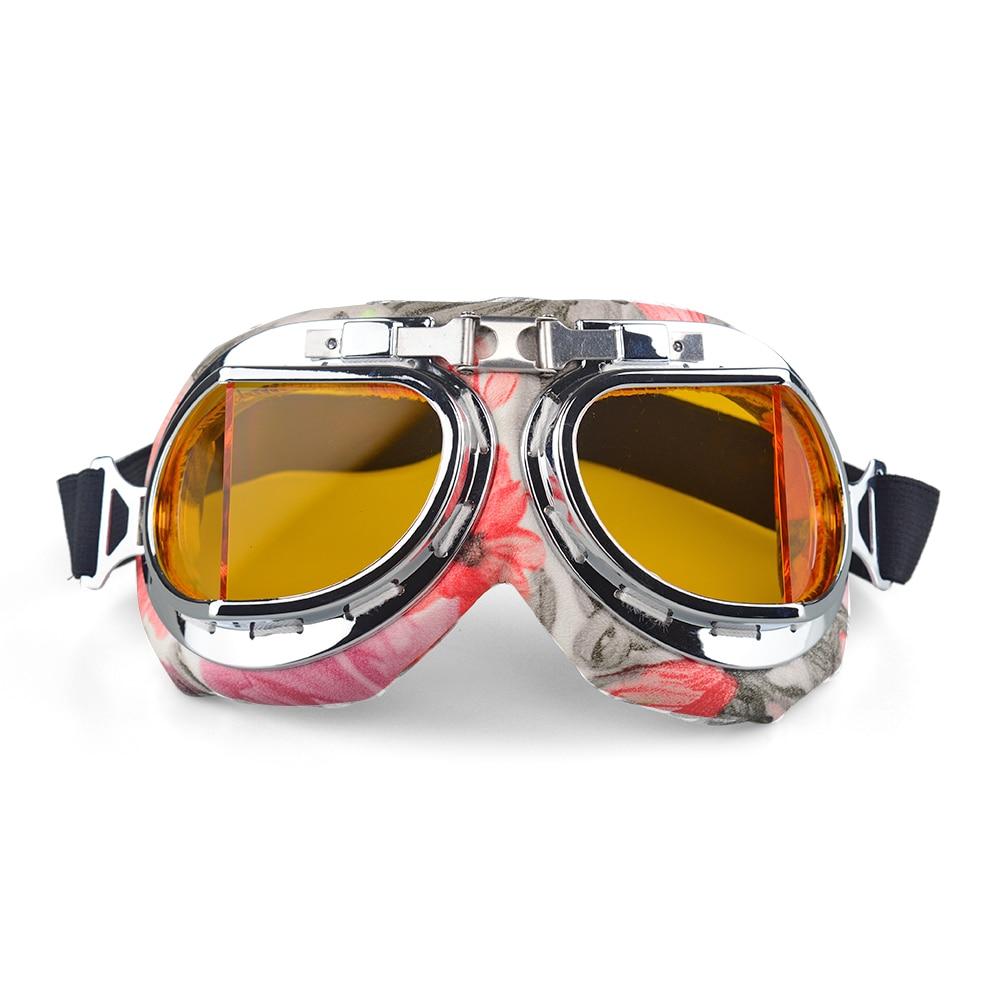Gafas Anti-UV Vintage para motocicleta, gafas para piloto, casco de motociclista, Scooter Cruiser, gafas todoterreno para carreras de Motocross