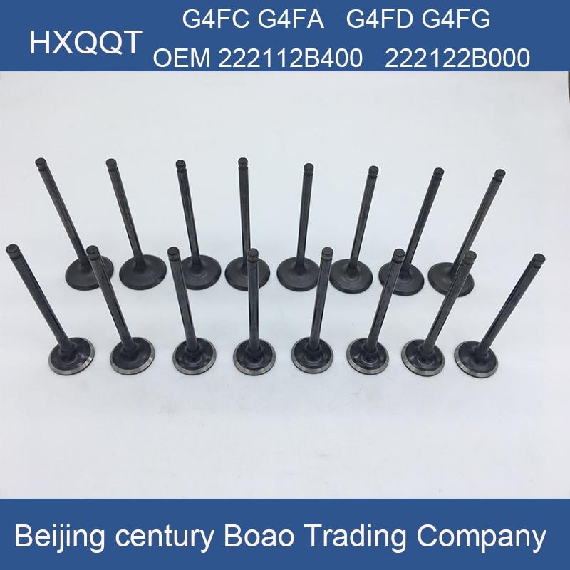 Для G4FC G4FD G4FA G4FG 1.6L впускной клапан двигателя Выпускной клапан 1 комплект OEM 222112B400 22122B000
