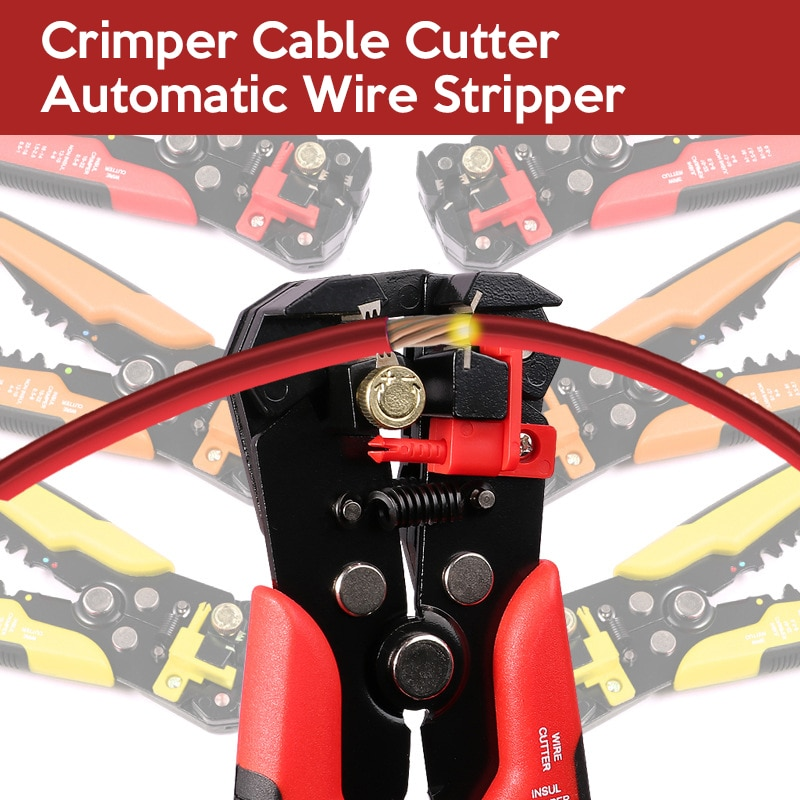 Купить с кэшбэком Crimper Cable Cutter Automatic Wire Stripper Multifunctional Stripping Tools Crimping Pliers Terminal 0.2-6.0mm2 tool