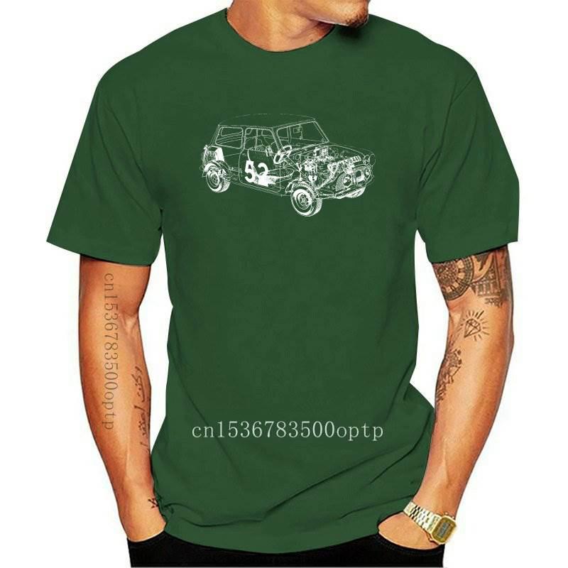 New Austin Mini Classic 1275 Car Black Cotton T-shirt
