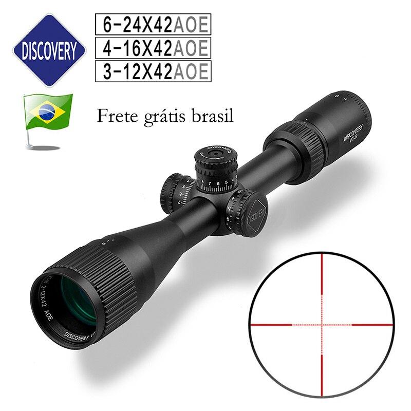 رخيصة اكتشاف نطاقات VT-R 3-12X42 AOE 4-16 6-24 مضيئة التكتيكية الصيد نطاق تستخدم ل بندقية PCP الادسنس