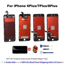 Qualité AAA + + + ÉCRAN LCD Pour iphone 6plus 6splus 7plus 8plus lcd Écran Tactile Pour iPhoneNo Pixel Mort + cadeaux