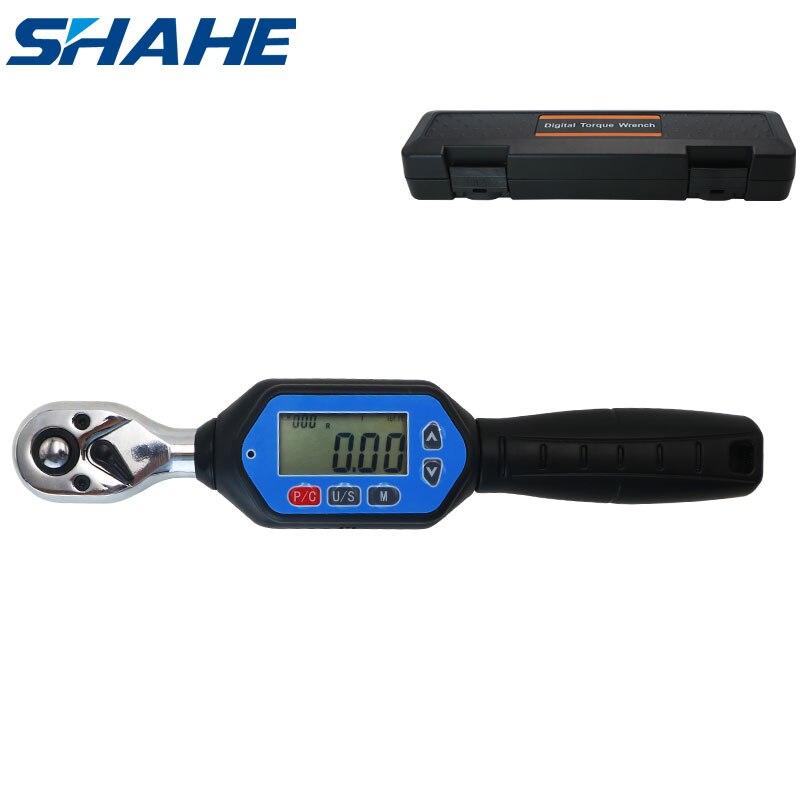 shahe MINI  digital torque wrench 1/4inch 3/8inch 1/2inch Professional bike car repair adjustable torque wrench Hand Tools