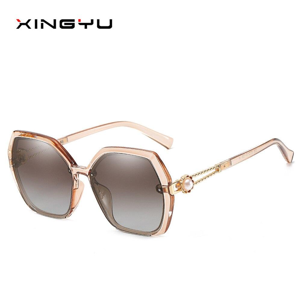 جديد السيدات الاستقطاب النظارات الشمسية الأوروبية والأمريكية إطار كبير نظارات موضة الاتجاه النظارات الشمسية مرآة سائق خمر