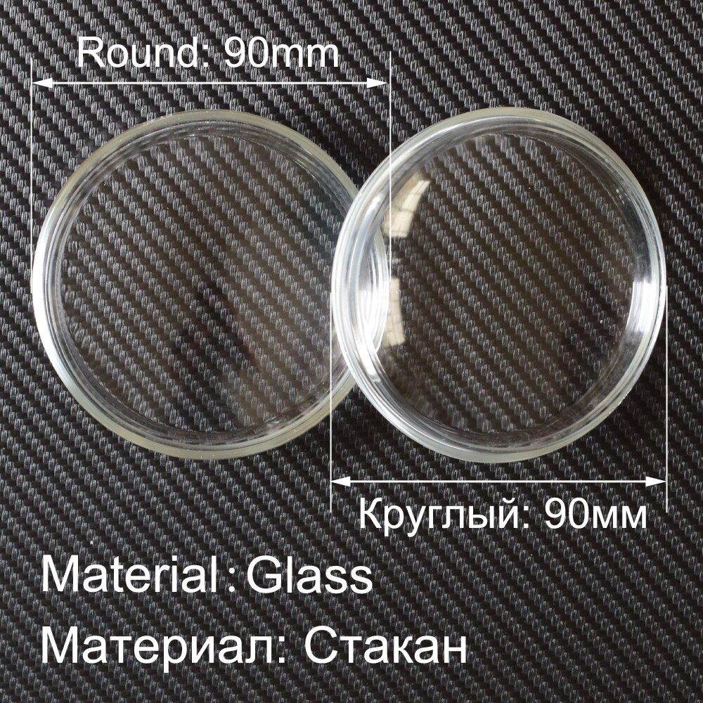 2pcs/lot 90mm Fog Lamp Light High Temperature Resistant Glass Cover Shade For Honda CR-V CR-Z Pilot Crosstour Fit Accord Insight