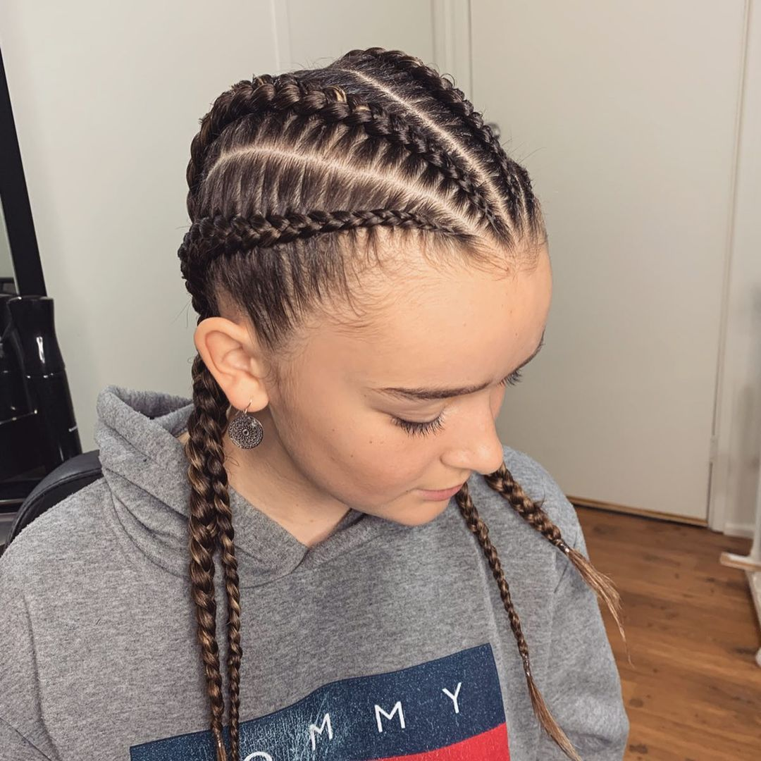 Wig Braids African Synthetic Lace Wigs For Black Women Handmade Blonde Wig With Baby Hair 24Inches Braided Wig Box Braid Wigs