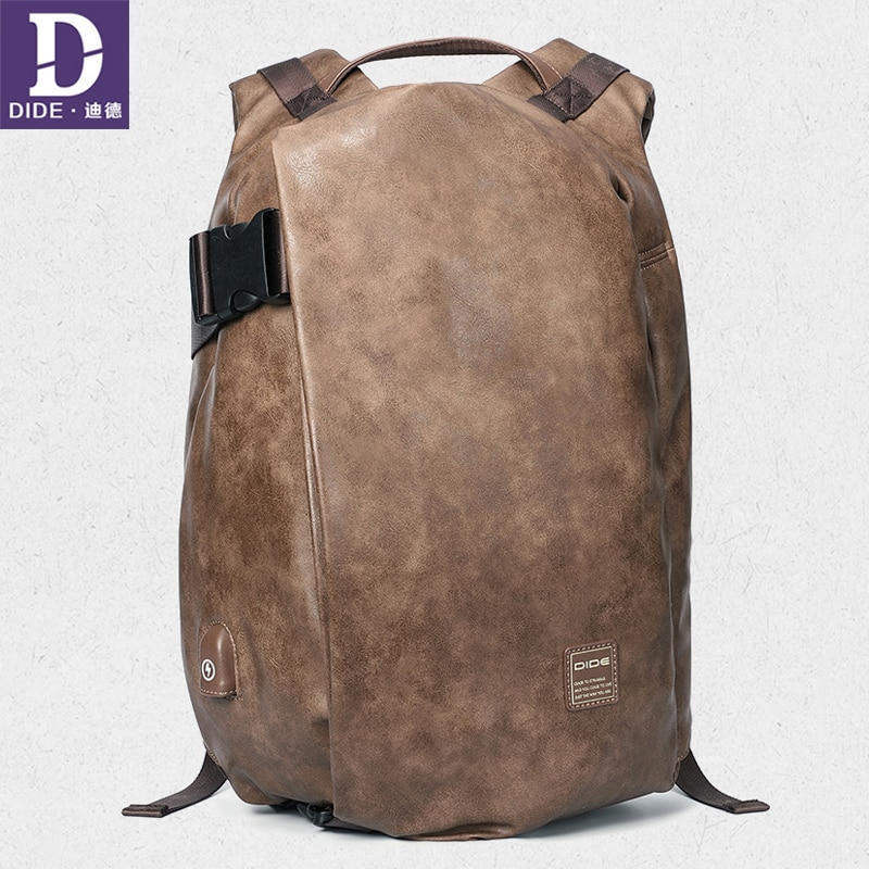 DIDE-حقيبة ظهر USB 15.6 بوصة للرجال ، حقيبة مدرسية ، حقيبة سفر كلاسيكية ، مقاومة للماء ، للطلاب
