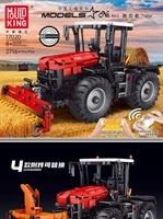 mould king moc high tech the rc tractor fastrac 4000er truck set building blocks bricks kids educational toys christmas gifts