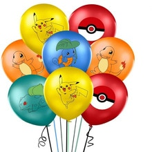 5pcs 10pcs 20pcs Cartoon pokemon Pikachu Helium Balloon Children 's Birthday Party Decoration Balloo