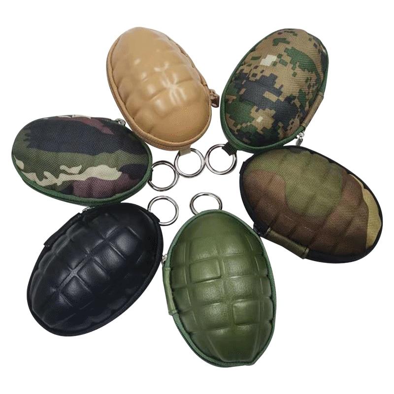 Mini chaveiro com bolso para moedas, chaveiro com bolso de zíper para carteiras, edc, bolsa militar, camo, exército, 2020
