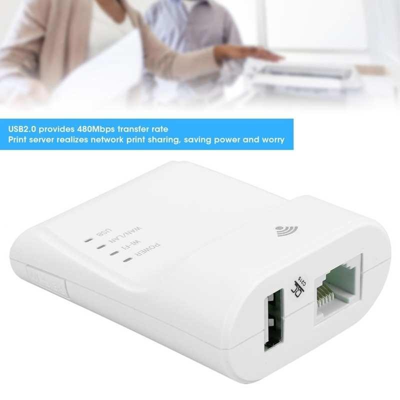 USB Print Server High Speed Network Copy Adapter for Laptop Computer US Plug 100-240V AS enlarge
