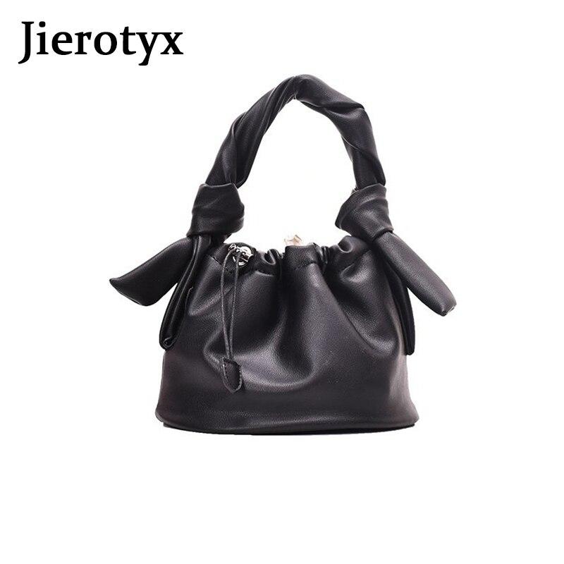 JIEROTYX kobiety 2020 nowy projektant mody torebki miękki pasek dorywczo torebki PU skórzana torba Chic kobiece skrzynki Sac A Main