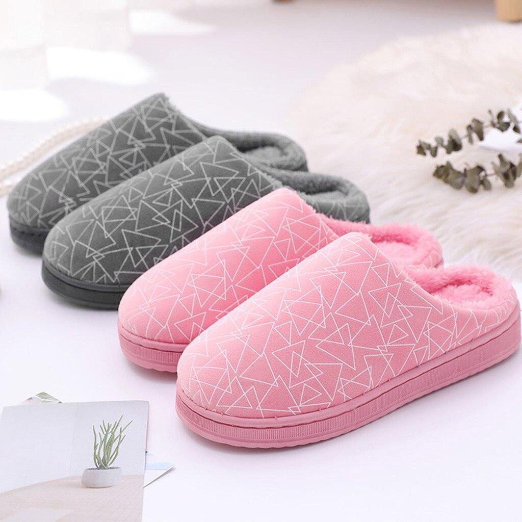 2019 Winter Slippers Home Women Men Couples Solid Color Warm Non-slip Floor Home Slippers Indoor Shoes Ladies Slippers Pantufa
