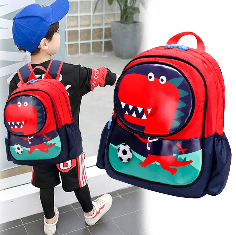 Mochila creativa de dinosaurio en 3d, mochila de felpa de dibujos animados de animales lindos, bolsa de dinosaurios para niños, regalos para niños
