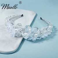miallo fashion hairband crystal headband for women hair accessories party headbands tiaras and crowns prom headpiece gifts