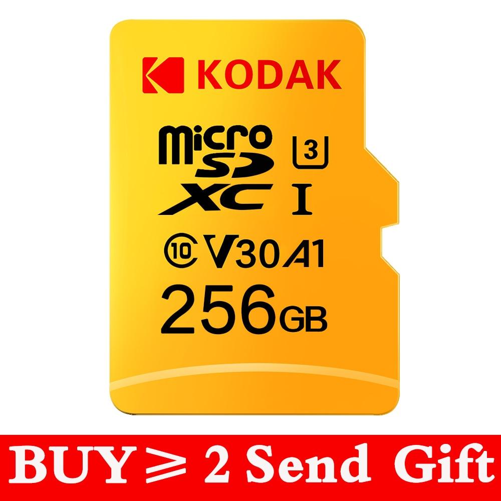 KODAK Micro SD de 128GB 256GB microsd de 512 gb, tarjeta de memoria Flash 32GB 64GB U1 TF 4K Clase 10 tarjeta Micro SD tarjeta U3 UHS-I 16GB