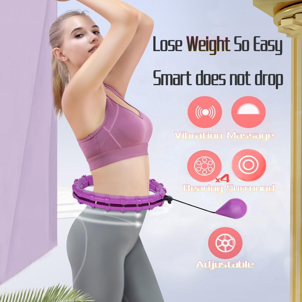 Adjustable Sport Hoops Abdominal Thin Waist Exercise Detachable Massage Hoops Fitness Equipment Gym