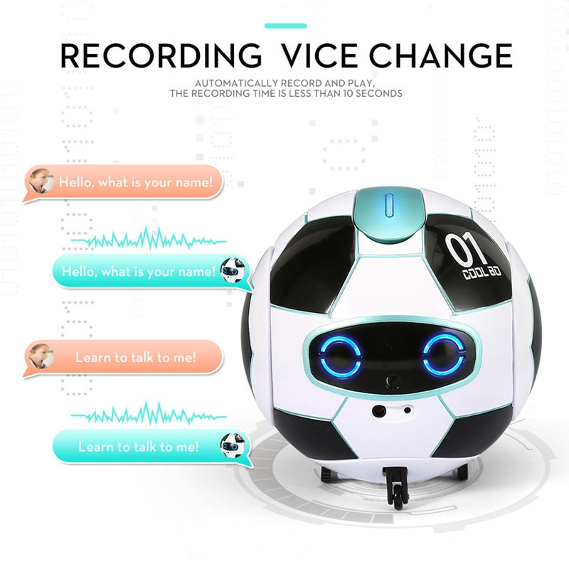 Juguete educativo de fútbol, reconocimiento inteligente de voz, Control táctil, prevención de obstáculos, canto, baile, Robot de juguete giratorio de 360 grados