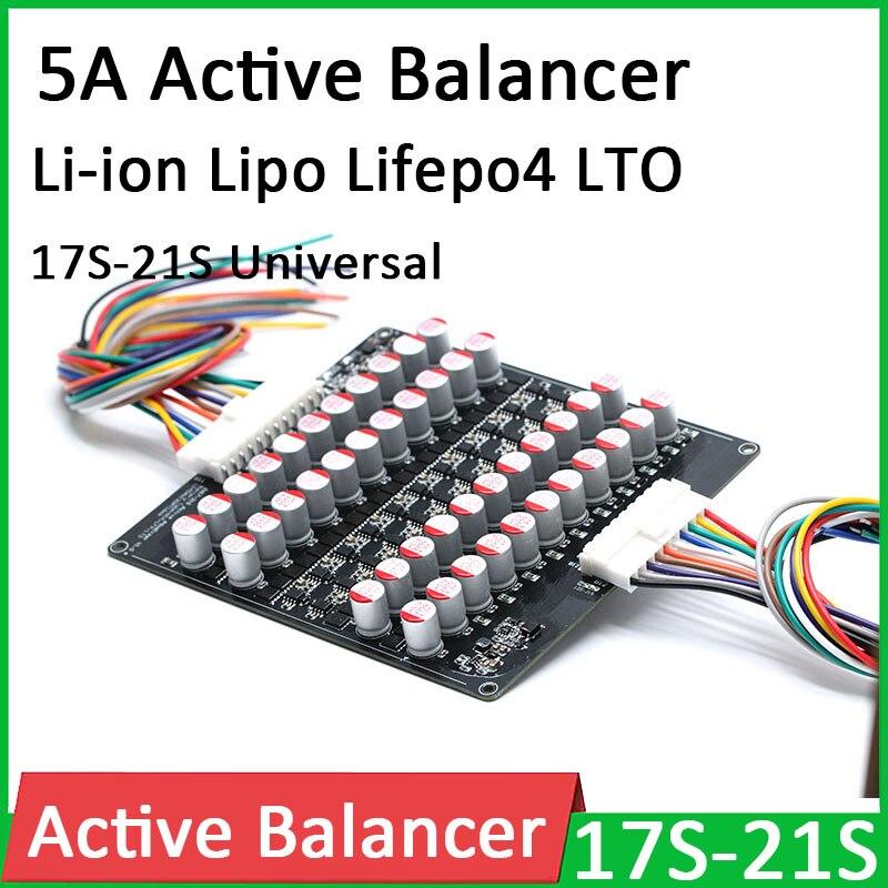 Bateria de Lítio Placa de Equilíbrio de Transferência de Energia 5a Balanceador Ativo Equalizador li Ion Polímero Lifepo4 Lto Bms 17s 18s 19s 20s 21s