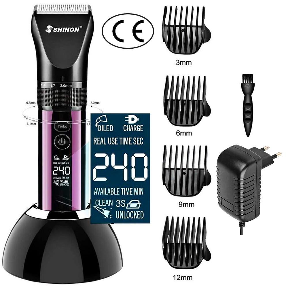 ماكينة قص الشعر الكهربائية الاحترافية للرجال ، 3 أوضاع ، شاشة LED ، طريقة شحن مزدوجة ، ماكينة قص الشعر مع قاعدة شحن