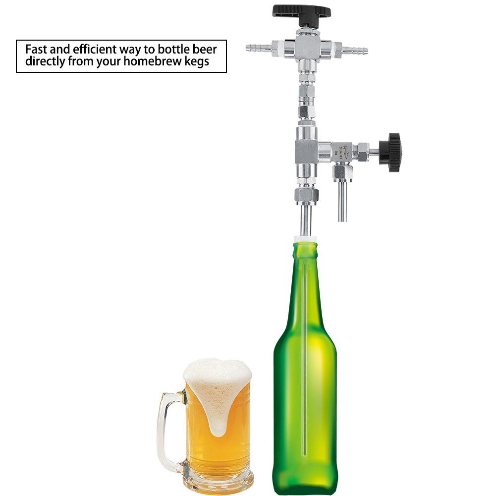 آلة تخمير البيرة بالضغط من الفولاذ المقاوم للصدأ 304 ، 1 * حشو زجاجة البيرة ، تخمير المنزل ، طقم تخمير CO2