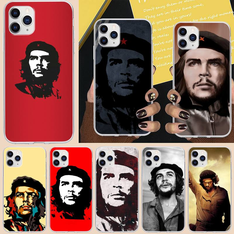 Che Guevara Fitted Phone Case For iPhone 6 7 8 Plus 11 12 ProMax X XR XS Max SE Soft cover