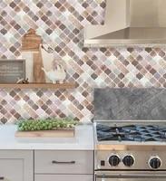 Vividtiles autocollant mural en vinyle 3D  1 feuille   carreaux de mosaique  adhesif  peler et coller  bricolage  cuisine  salle de bains