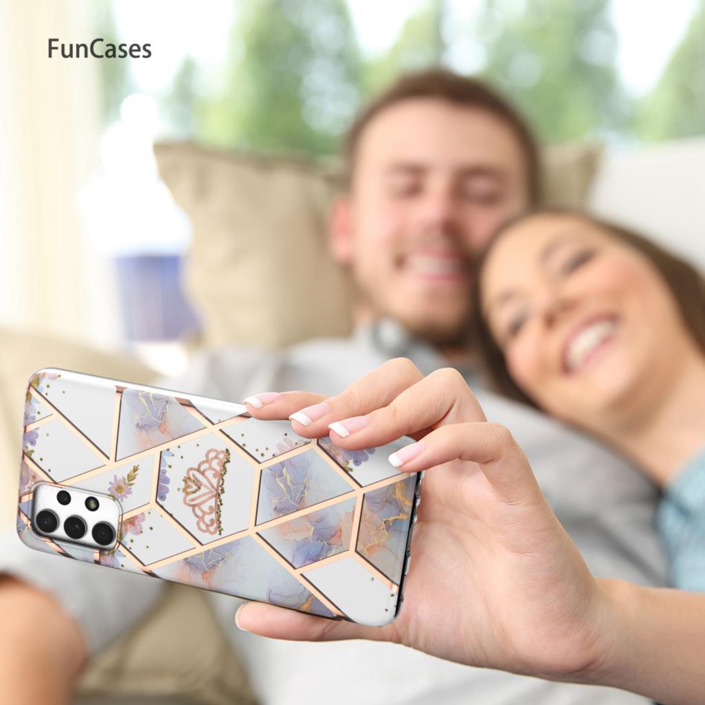 Smasung-funda trasera geométrica para teléfono Samsung A32 5G, funda de silicona suave...