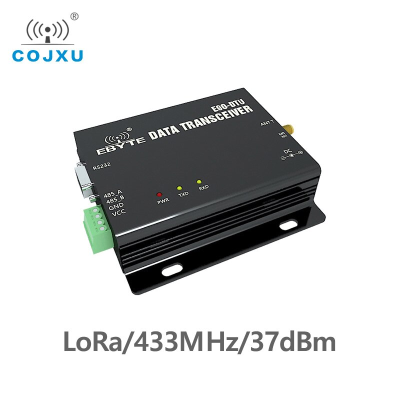 LoRa RS232 RS485 Wireless Transceiver 433MHz 5W COJXU E90-DTU-433L37  Long Distance 20km PLC Transceiver Receiver Radio Modem lora wireless module rs232 rs485 433mhz tcxo cojxu e90 dtu 433l30 wireless transceiver long range 8km plc receiver radio modem