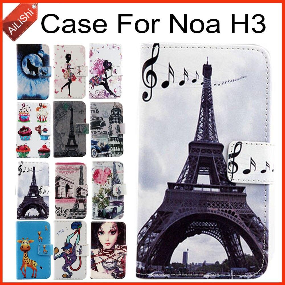 Caso Para Noa AiLiShi H3 Virar Luxo PU Estojo De Couro Pintado Exclusivo 100% H3 Noa Especial Tampa Do Telefone Da Pele + rastreamento