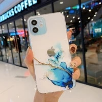 transparent marbling phone case for xiaomi poco x3 pro nfc fashion wear resistant bring color lens circle protection back cover