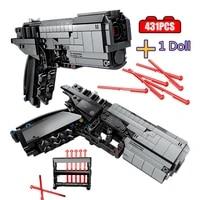 431pcs wandering earth signal gun technical building blocks city military brick shooting educational toys for children