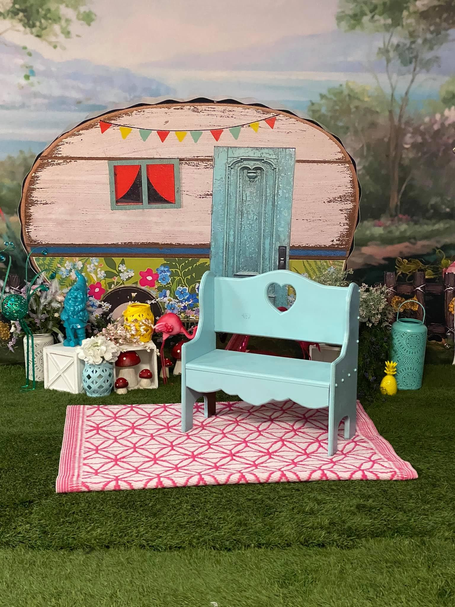 Gone Camping Cake Smash Photography Backdrops For Children Birthday Photographic Studio Photo Backgrounds Spring Park Flowers enlarge