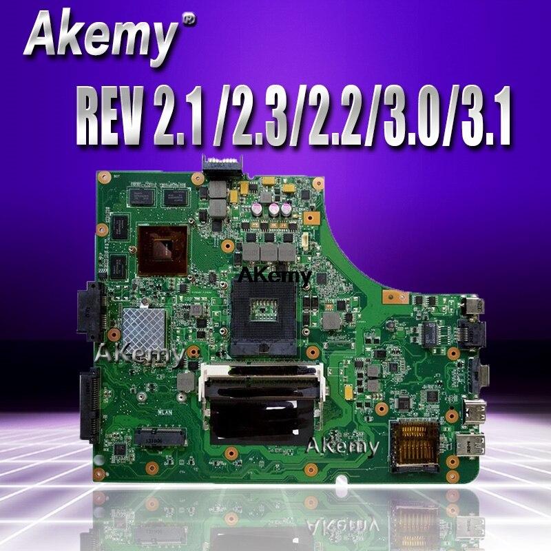 Placa base de ordenador portátil Akemy K53SV para ASUS K53SM K53SC K53SJ, placa base original de prueba con 3.0USB REV 2,1/2,3/2,2/3,0/3,1 GT540M